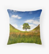 Sycamore Gap on Hadrian's Wall Throw Pillow