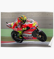 Valentino Rossi in Assen 2011 Poster