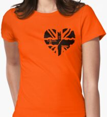British At Heart (pocket) Womens Fitted T-Shirt