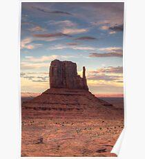 Monument Valley - West Mitten Butte Poster