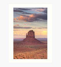 Monument Valley - East Mitten Butte  Art Print