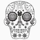 Steampunk Sugar Skull by pwrighteous
