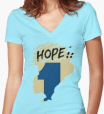 Hope!! (time machine) Women's Fitted V-Neck T-Shirt