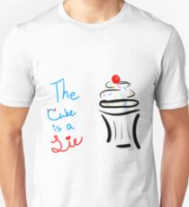 "Portal ""The Cake Is A Lie"" Cupcake T-Shirt"