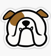 English Bulldog - white and brown - best Bully dog gift by smooshfaceunited  Sticker