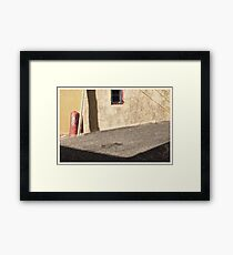 alley, denver Framed Print