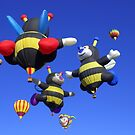 The Sky diving Bees by Forget-me-not