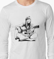 Joni Mitchell - Line Long Sleeve T-Shirt