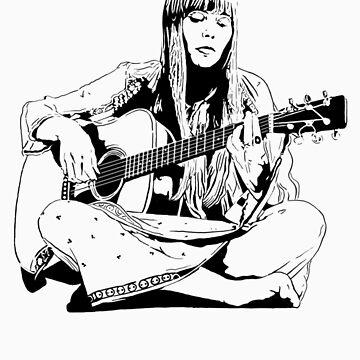 Joni Mitchell - Line by WickedPixel