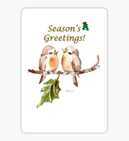 2 Little Birds - Season's Greetings! Sticker