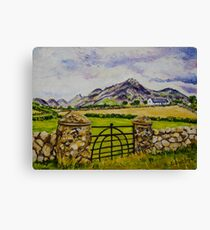 """Beneath Slieve Binnian, Mountains of Mourne, County Down."" Canvas Print"