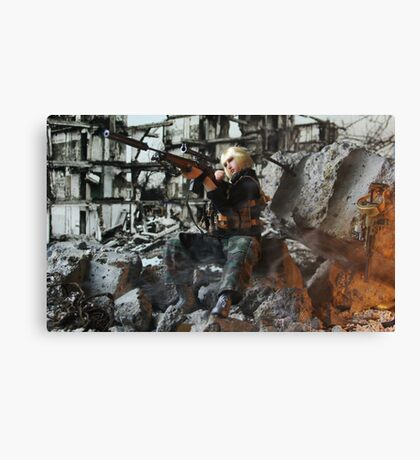 Grozny march 2005 bis Canvas Print