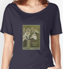 Calla Lilies Birthday Wishes Women's Relaxed Fit T-Shirt