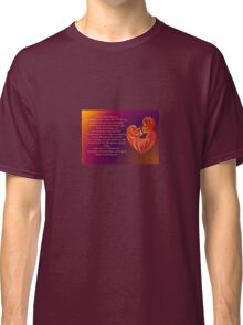 Thank You for Being You Poetry Greeting Card Classic T-Shirt
