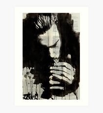 study for man smoking Art Print