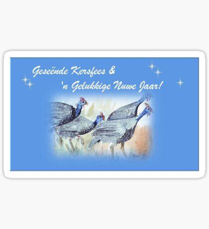 Geseënde Kersfees en 'n Gelukkige Nuwe Jaar! Sticker