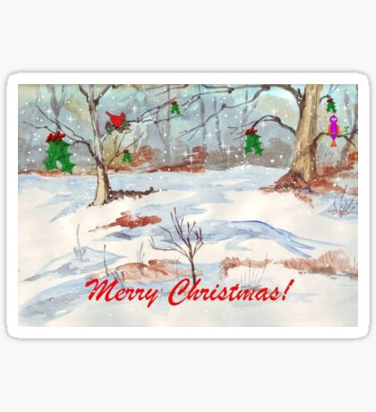 White Christmas Sticker