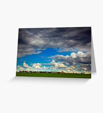 Clouds over Canola Greeting Card