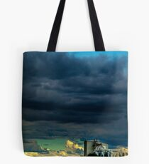 Grain mill and storm clouds Tote Bag
