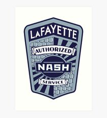Vintage Nash LaFayette Service Sign Reproduction Art Print