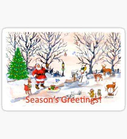 Season's Greetings to you! Sticker