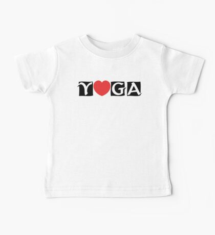 Love Yoga T-Shirt Kids Clothes