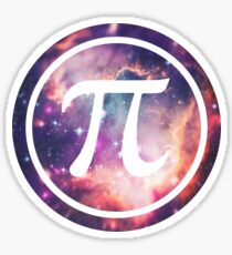 PI - Universum / Space / Galaxy  Nerd & Geek Style Sticker
