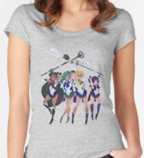 SUPER OUTER SENSHI Women's Fitted Scoop T-Shirt