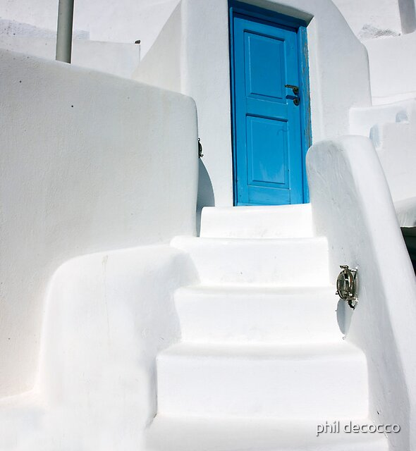 Bright Blue Door by phil decocco