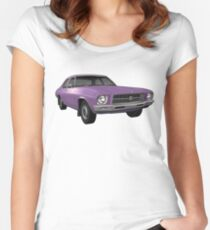 Holden HQ Kingswood - Purple Women's Fitted Scoop T-Shirt