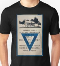 Women girls rest and information go to the YWCA blue triangle house opposite Union Station Unisex T-Shirt