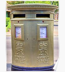 Gold Postbox Poster