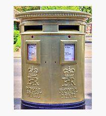 Gold Postbox Photographic Print