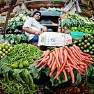 crawford market, India, Mumbai, vegetable by Heather Buckley