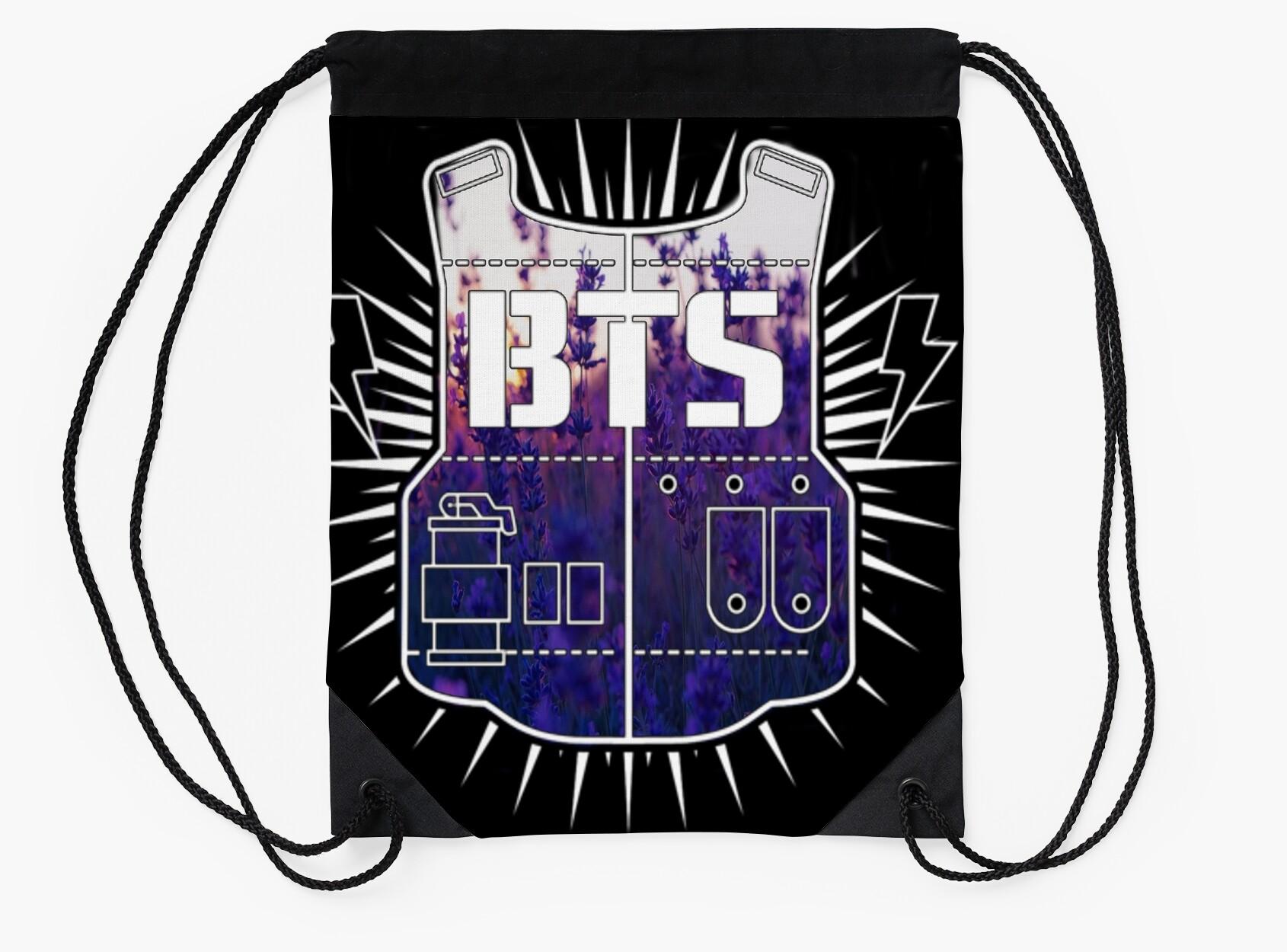 BTS logo floral