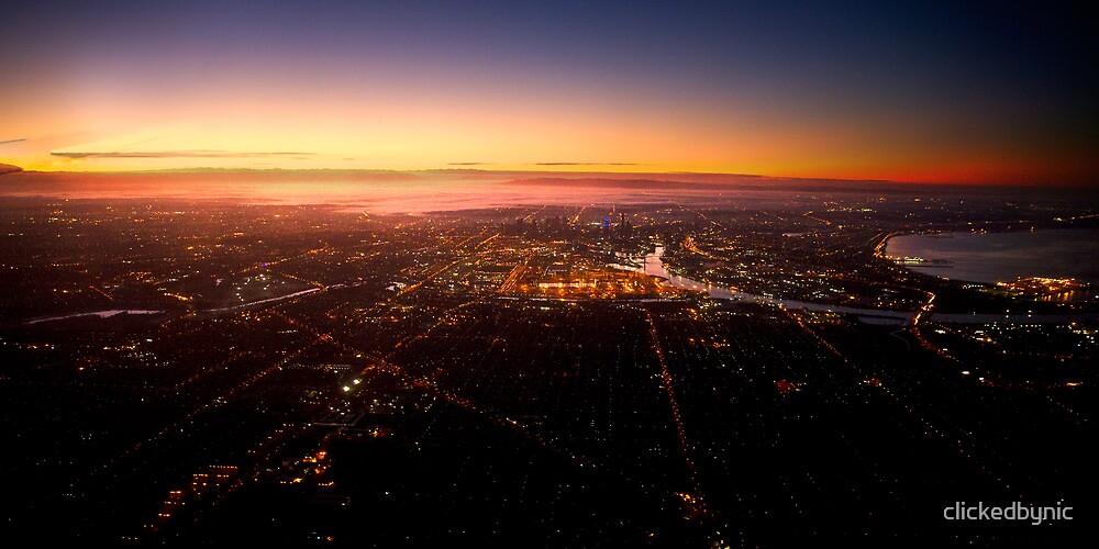 Melbourne dawn at 3,000 feet by clickedbynic