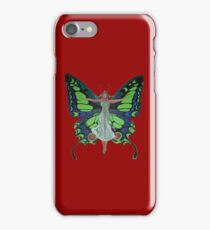 Art Nouveau Vintage Flapper With Butterfly Wings iPhone Case/Skin