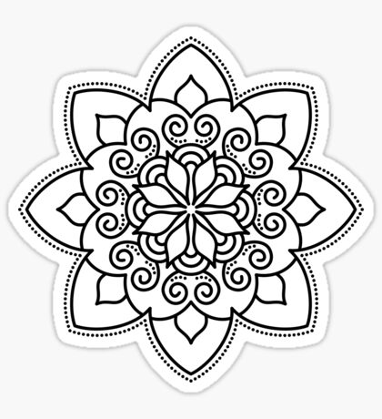 Simple Swirl Mandala Sticker