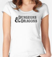 Dungeons & Dragons - D&D Classic Retro Logo Women's Fitted Scoop T-Shirt