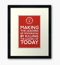 C.I.A. Making The Leaders of Tomorrow Framed Print