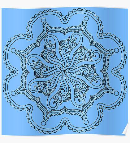 Tentacle Mandala Poster