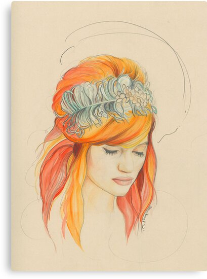 Feathered Red Head (The Original) by Stacy Stranzl