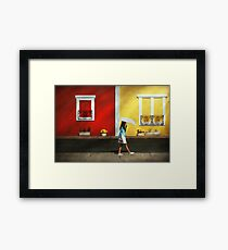Child - A bright sunny day  Framed Print