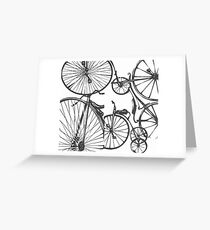 Black Bikes Greeting Card