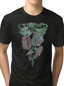 Art Nouveau Morning Glory Isolated On Black Tri-blend T-Shirt
