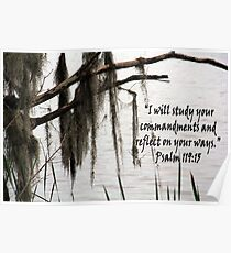 """""""Psalm 119:15""""  by Carter L. Shepard Poster"""