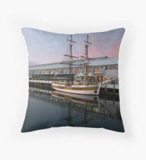 Hobart Wharf. Throw Pillow