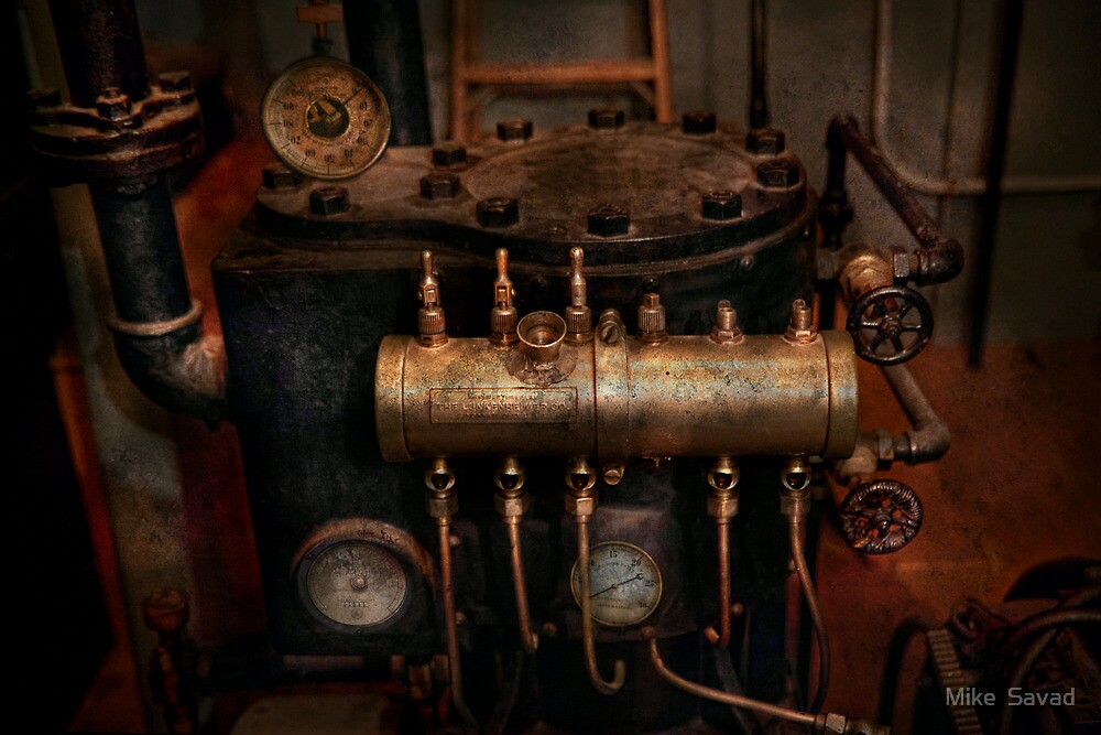 Steampunk - Plumbing - The valve matrix by Mike  Savad