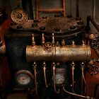Steampunk - Plumbing - The valve matrix by Michael Savad