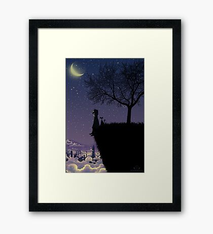 Captain Moonlight Framed Print